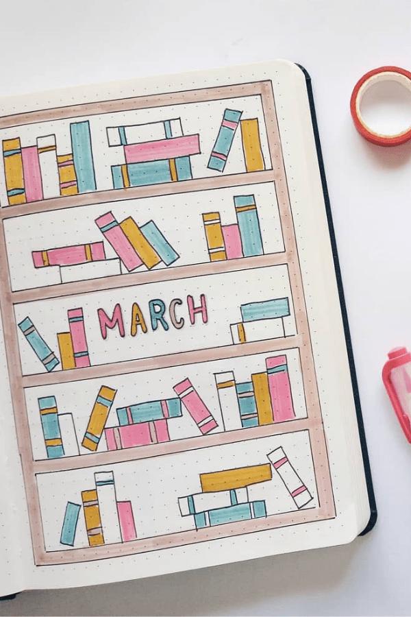 calendar march bullet journal
