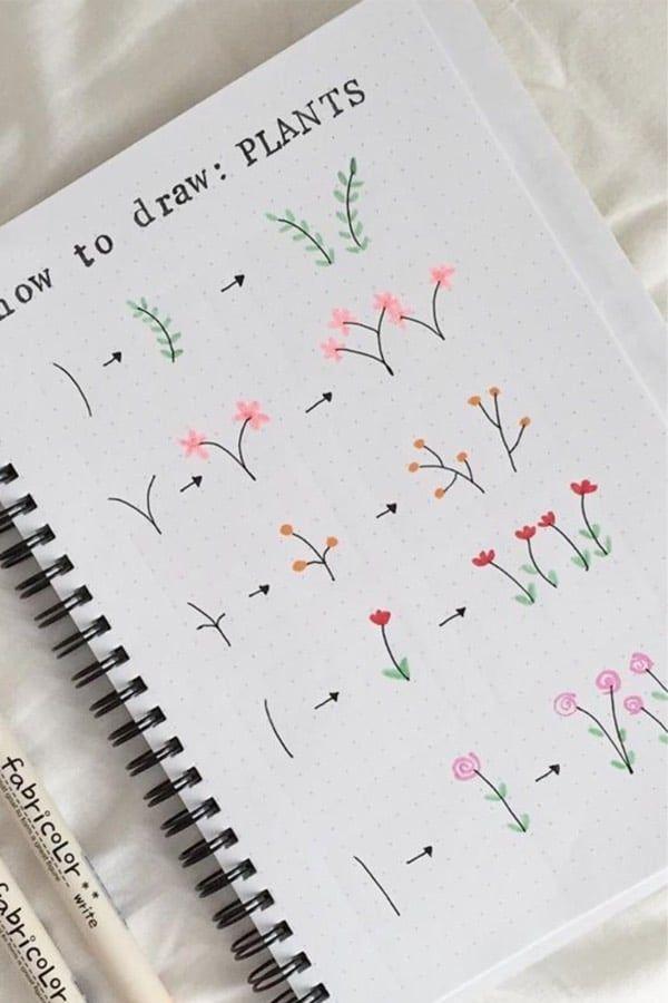 April bullet journal mood tracker