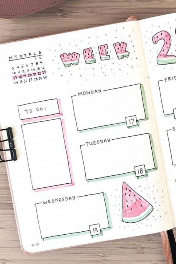bullet journal ideas April