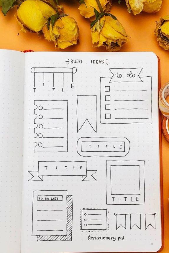 easy bullet journal ideas