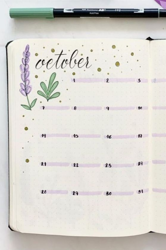 bullet journal page fillers