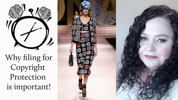 Why it's important to file for copyright protection. (Janie Crow vs Dolce&Gabbana)