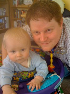 E and Daddy, April 2010