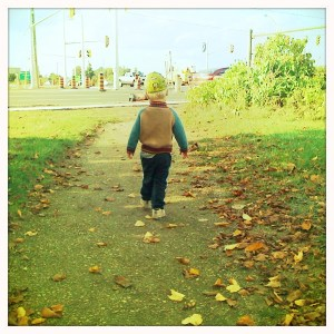 E taking a walk