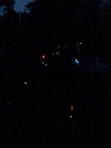 lights on graves in the children's memorial garden