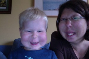 E and Mama chipmunk photo booth