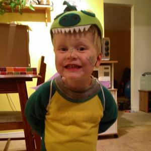 E in his dragon-fairy costume