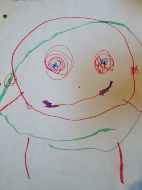 three-year-old's drawing of a person