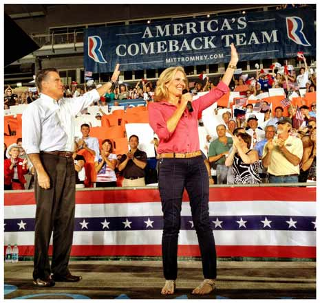 Mitt and Ann Romney campaign