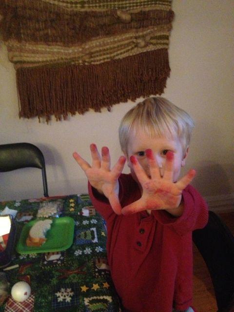 Christmas hands