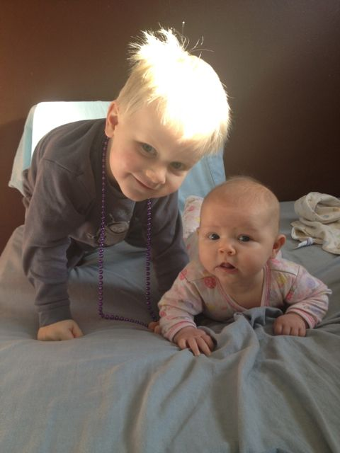 baby girl and big brother