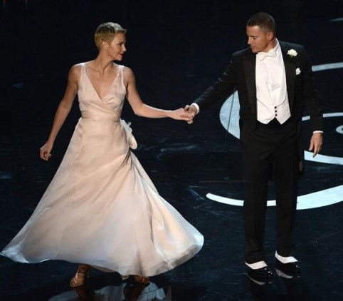 charlize theron and channing tatum dancing oscars 2013