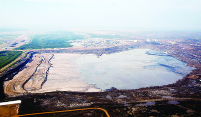 Syncrude's toxic tailings pond in alberta