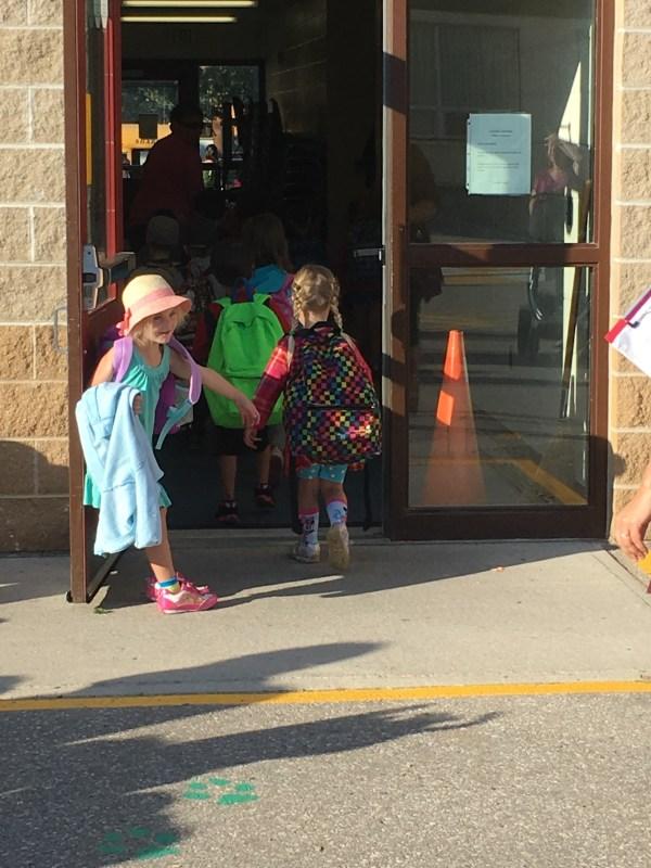 first day of school doorway