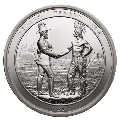 treaty 6 handshake coin