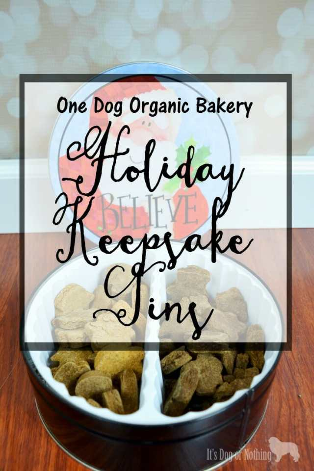 With the holiday season upon us, we're celebrating with the adorable Holiday Keepsake Tins from One Dog Organic Bakery.