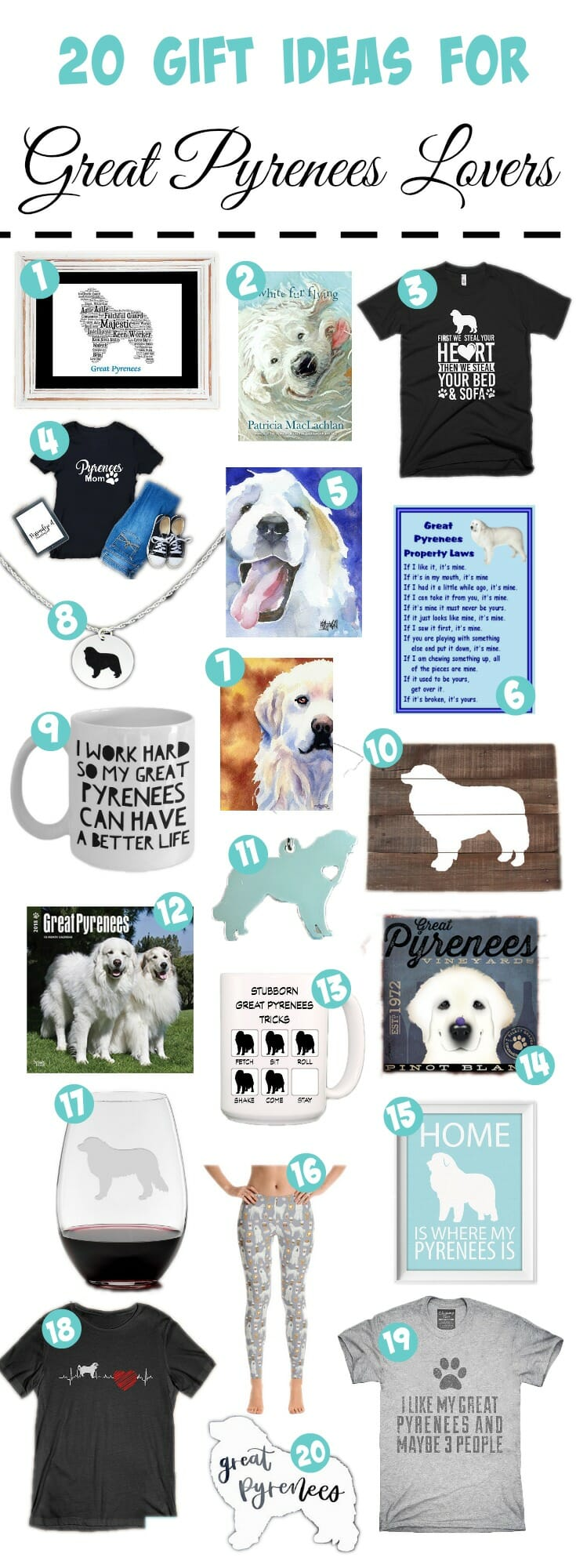 Still shopping for the Great Pyrenees lover on your list? Here are our top picks for the Great Pyrenees lover holiday gift guide.