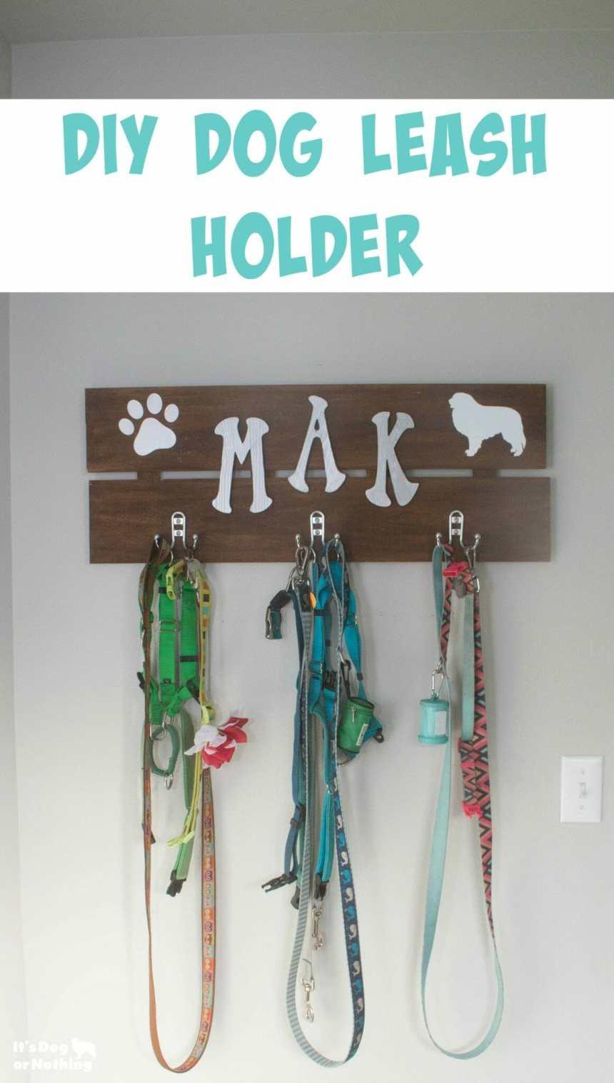 DIY Dog Leash Holder