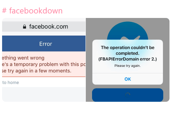 Facebook, Instagram Dan Whatsapp Down Hari ini