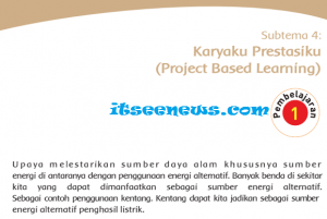 Subtema 4: Karyaku Prestasiku (Project Based Learning)