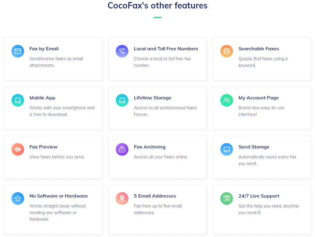 cocofax other features
