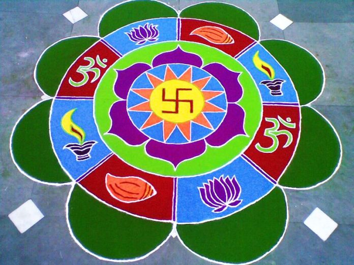 Rangoli for diwali 2015