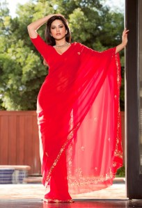 Bollywood Beauties in Red Saree