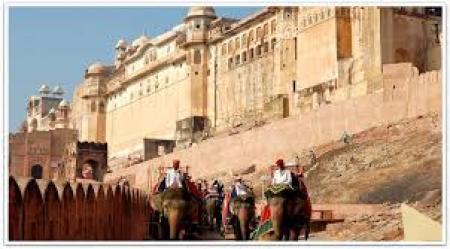 elephant ride in Amber fort