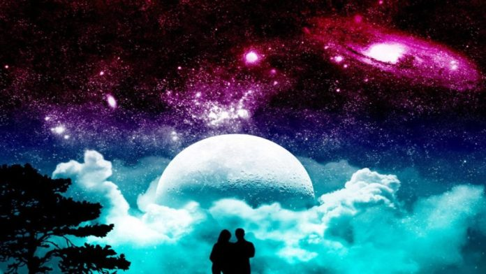 romantic love images celestial