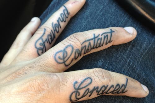 Most popular tattoo designs for men for Finger tattoo ideas