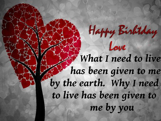 Happy birthday my love image wallpaper