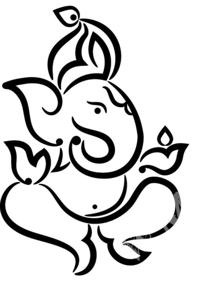 Line Art Ganesh Images : Top ganpati cartoon images hd wallpapers latest pictures