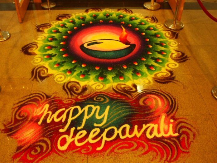 Deepavali_Festival wishes with rangoli wallpaper