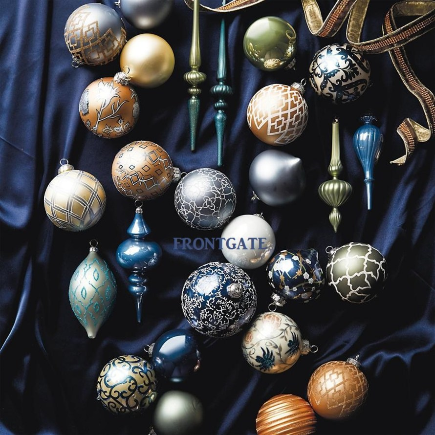 French Blue and Linen 60-pc. Ornament Collection