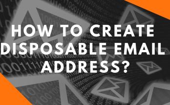 how to create disposable email address
