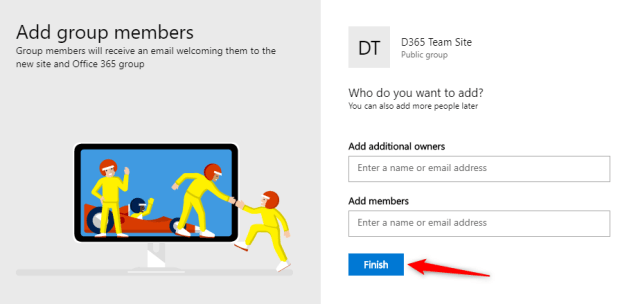 Add site members and additional owners