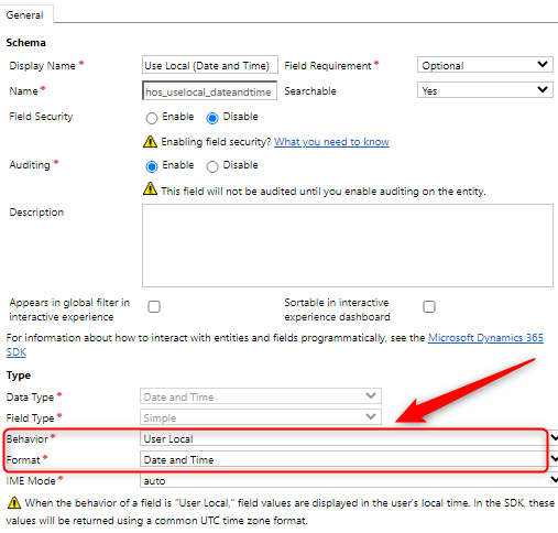 Date and Time field's Behavior and Format