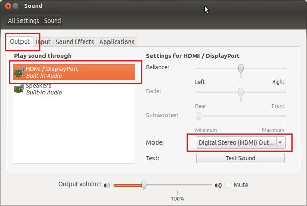 Fix No Sound Through HDMI In External Monitor In Ubuntu