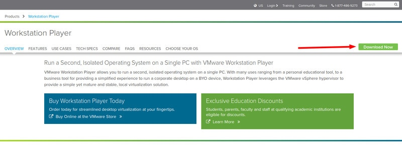 vmware workstation player download