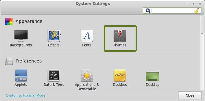 Install icon themes in Linux Mint 16