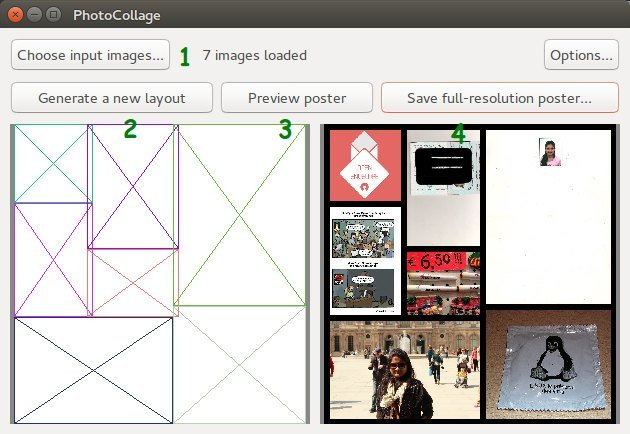 PhotoCollage Collage Maker App for Linux