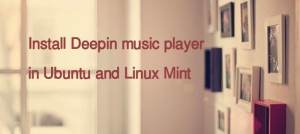 How to install Deepin music player in Ubuntu and Linux Mint