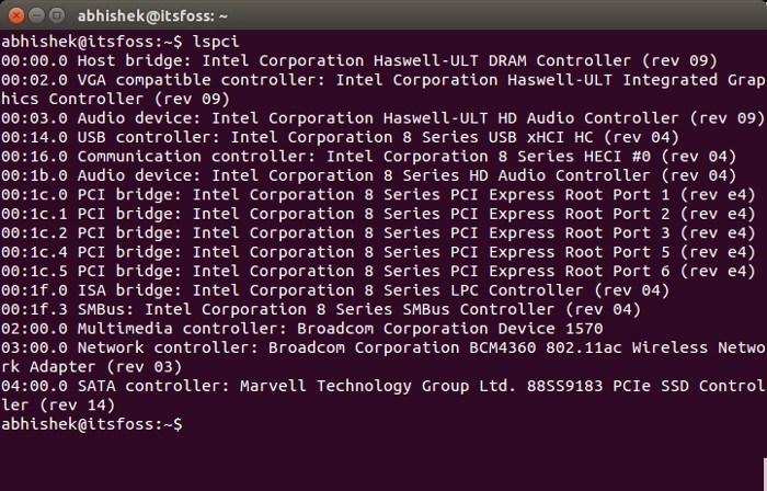 Find out Network Adapter in Ubuntu command line