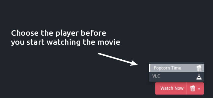Change media player in Popcorn Time