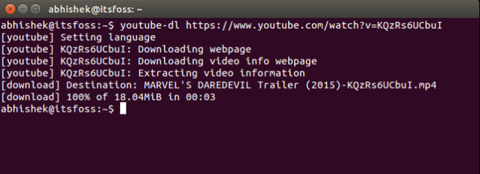 youtube-dl in Ubuntu 14.04
