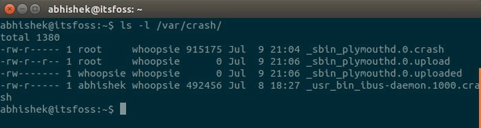system crash reports in Ubuntu