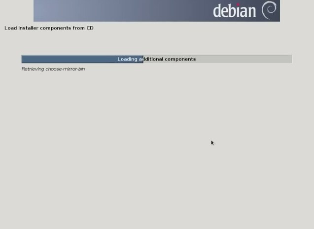 Installer components loading network configuration