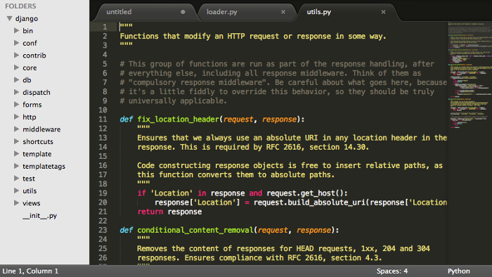 Sublime Text editor is perhaps even a better Notepad++ alternative in Ubuntu Linux