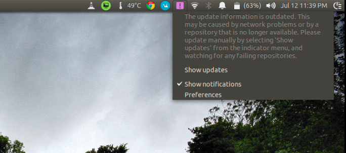 Update information is outdated in Ubuntu