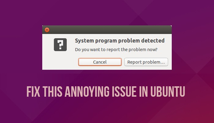 Fix System Program Problem Detected in Ubuntu